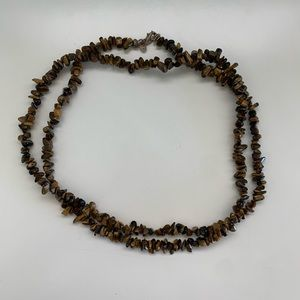 Extra Large Brown Stone Necklace